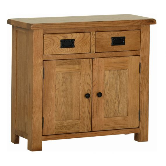 Edinburgh Rustic Oak 2 Door Small Sideboard