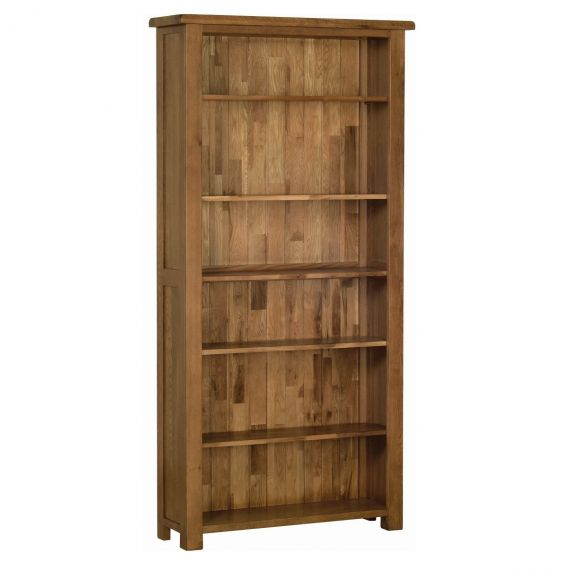 Edinburgh Rustic Oak 6ft Bookcase