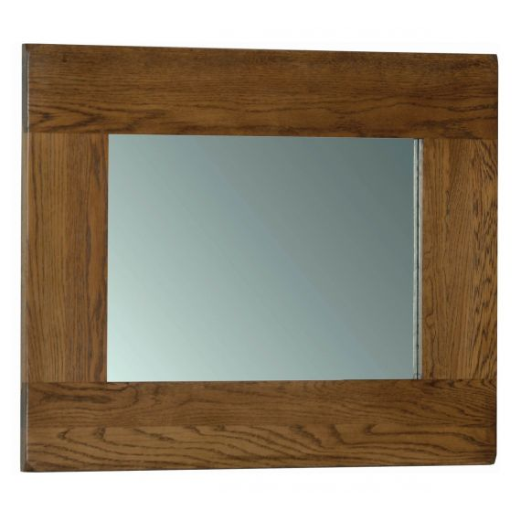 Edinburgh Rustic Oak 75 x 60cm Wall Mirror