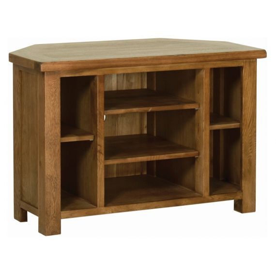 Edinburgh Rustic Oak Corner TV Unit