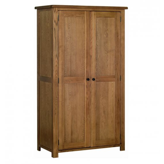 Edinburgh Rustic Oak Double Wardrobe
