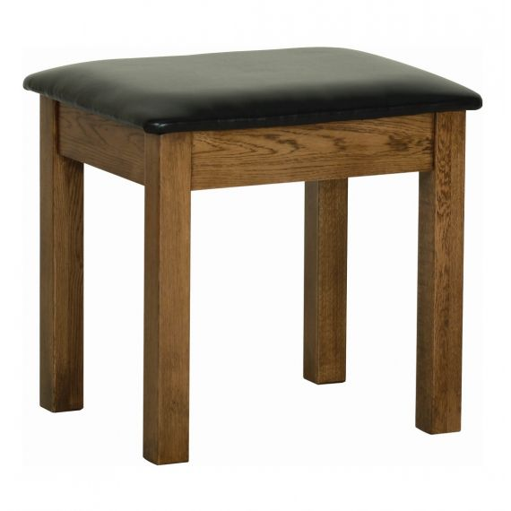 Edinburgh Rustic Oak Dressing Table Stool
