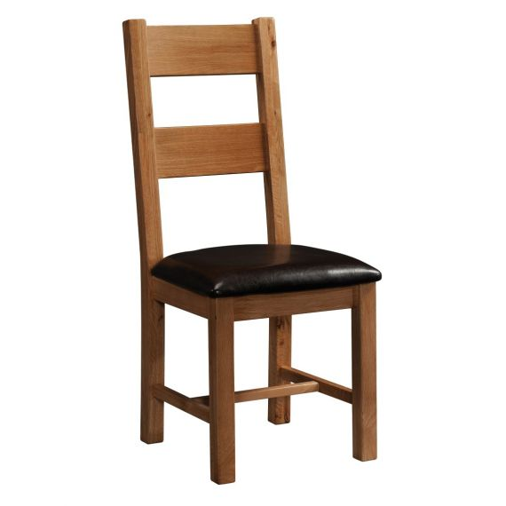 Edinburgh Rustic Oak Ladder Back Dining Chair