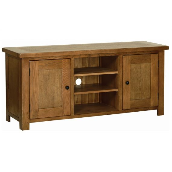 Edinburgh Rustic Oak Large TV Cabinet