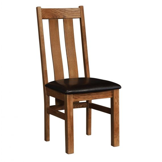 Edinburgh Rustic Oak Slat Back Dining Chair