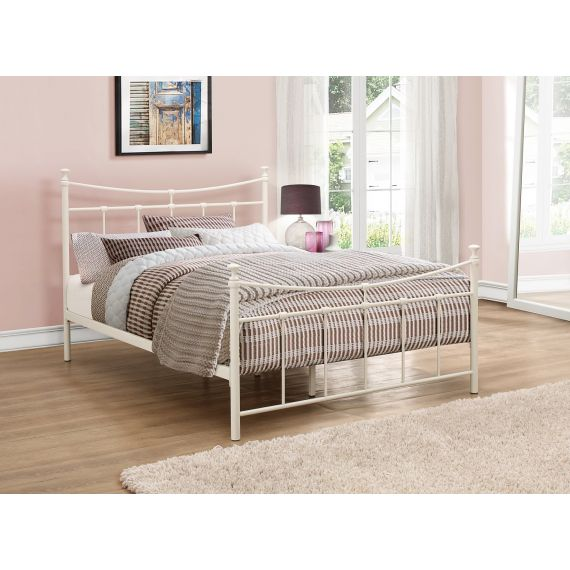 Emily Metal Bed - Cream