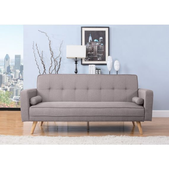 Ethan Grey Fabric 3 Seater Sofa Bed