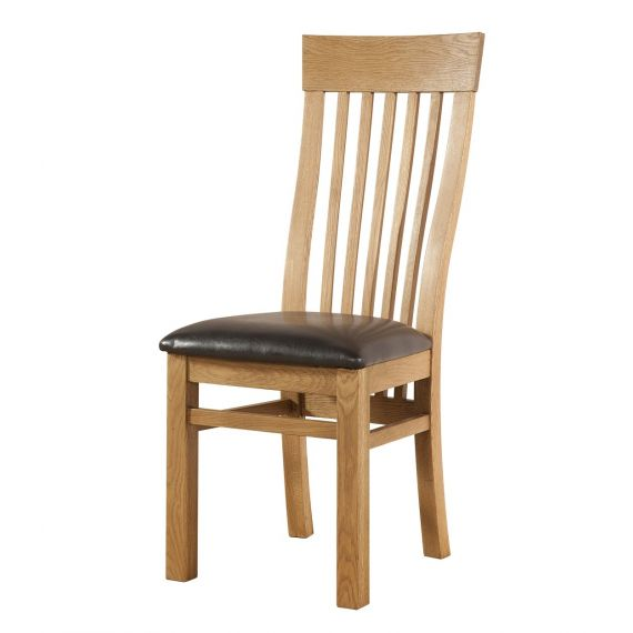 Fairfield Oak Curved Back Dining Chair