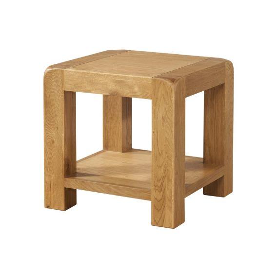 Fairfield Oak Lamp Table with Shelf