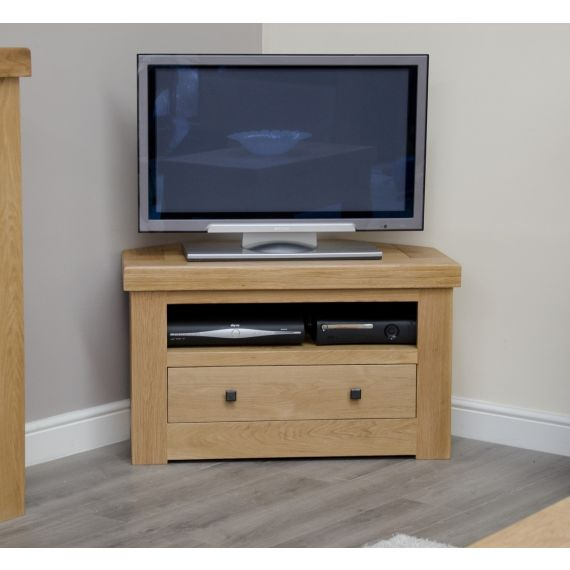 French Bordeaux Oak Corner TV Unit