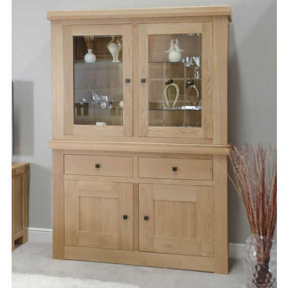 French Bordeaux Oak Display Unit / Welsh Dresser