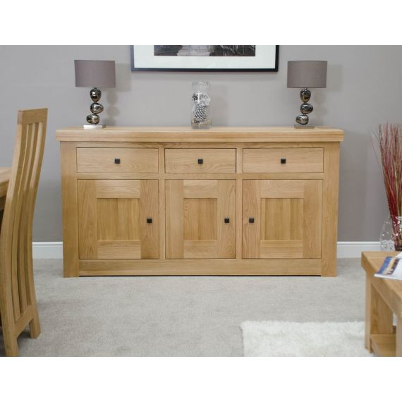 French Bordeaux Oak Large 3 Door Sideboard