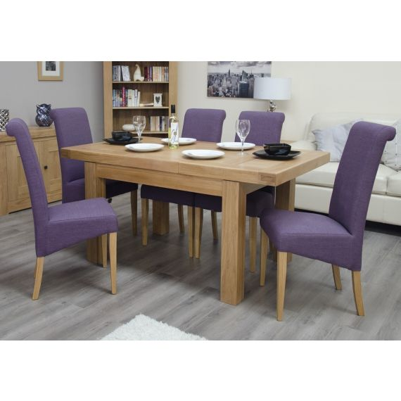 French Bordeaux Oak Small Extending Dining Table