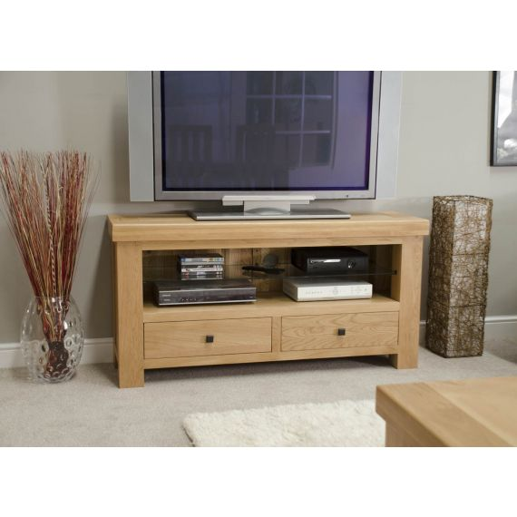 French Bordeaux Oak TV Media Unit