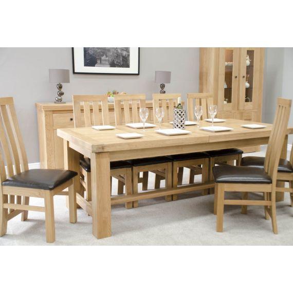 French Bordeaux Oak Large Extending Dining Table