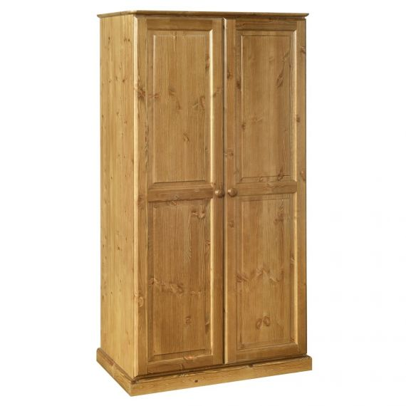 Glendale Solid Pine 2 Door Double Wardrobe