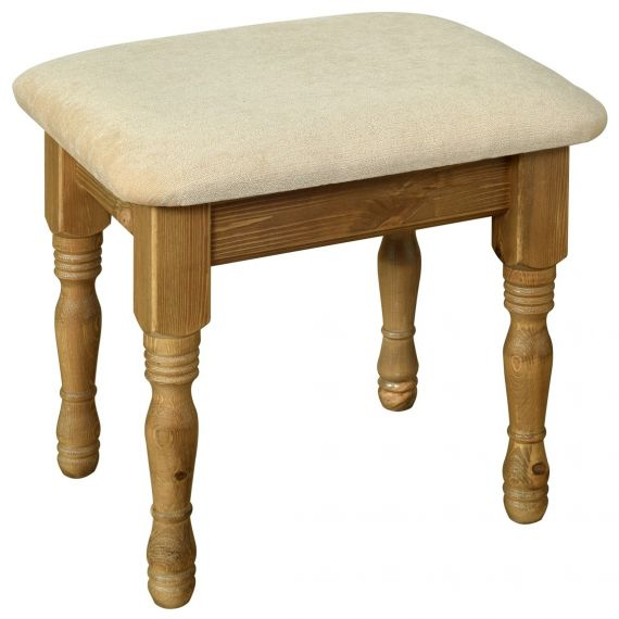 Glendale Solid Pine Dressing Table Stool