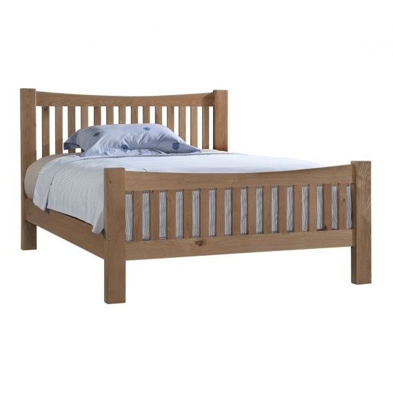 Grasmere Light Oak 5ft King Size Bed