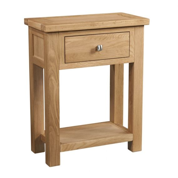 Grasmere Light Oak Console/Telephone Table