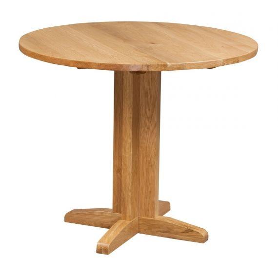 Grasmere Light Oak Round Drop Leaf Dining Table