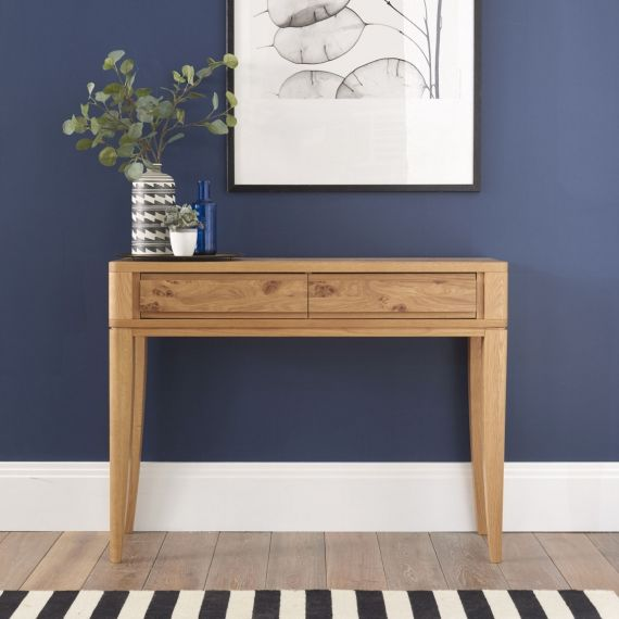 High Park Pippy Oak 2 Drawer Console Table - High Park Furniture