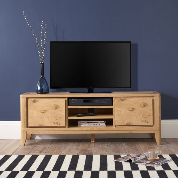 High Park Pippy Oak Large TV Unit - High Park Furniture