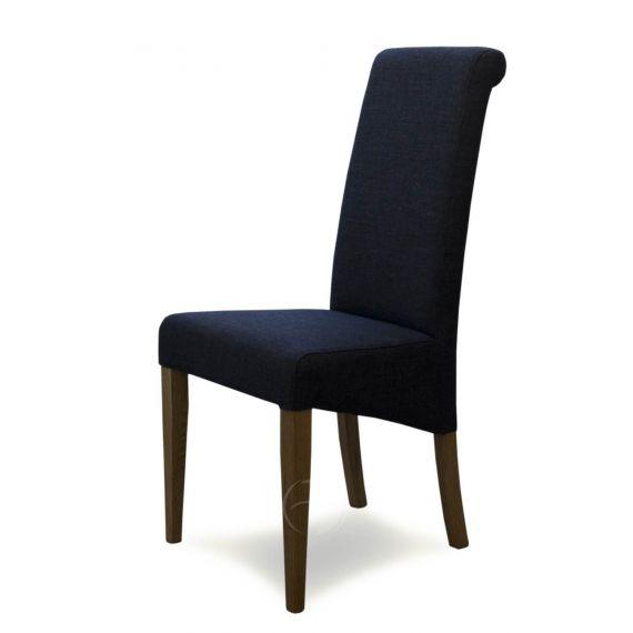 Italia Charcoal Fabric Dining Chair