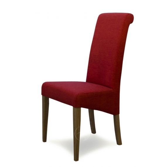 Italia Chilli Red Fabric Dining Chair