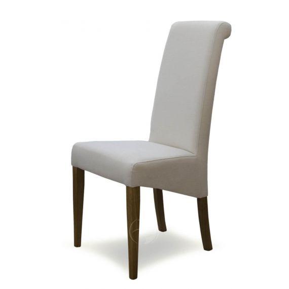 Italia Ivory Fabric Dining Chair