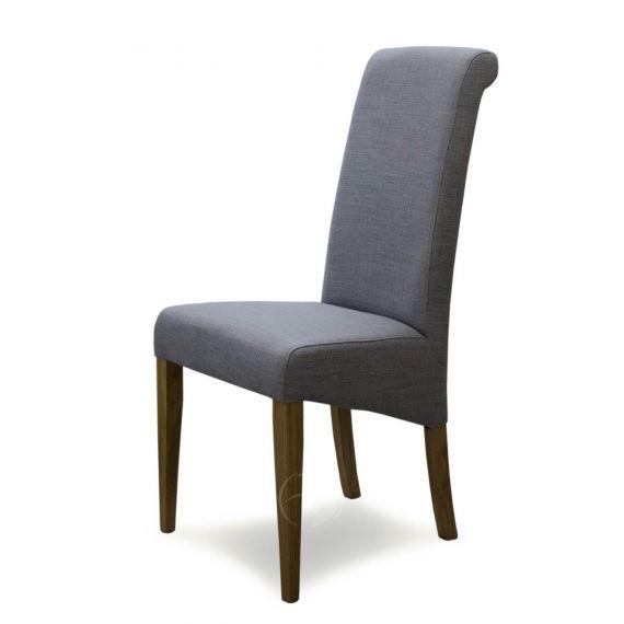 Italia Light Grey Fabric Dining Chair