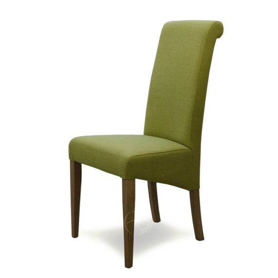 Italia Lime Green Fabric Dining Chair