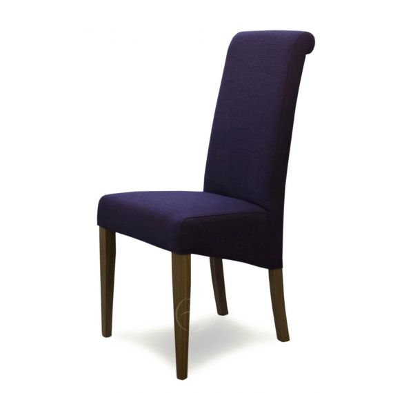 Italia Purple Fabric Dining Chair