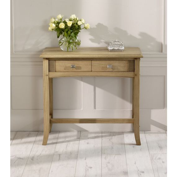 Lincoln Ash 2 Drawer Hall Table