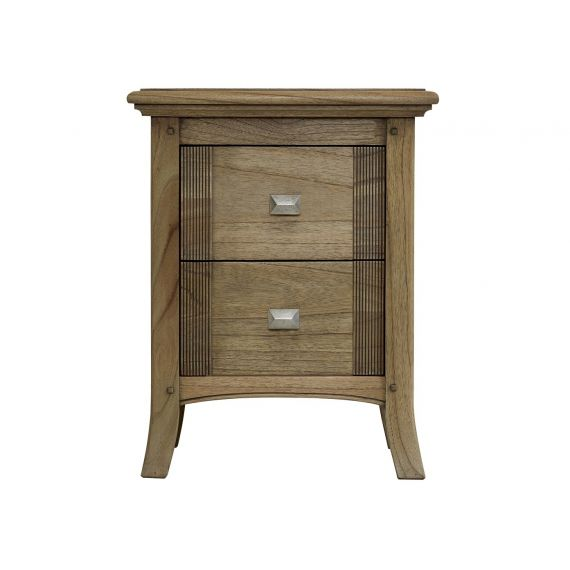 Lincoln Ash Compact 2 Drawer Bedside Chest