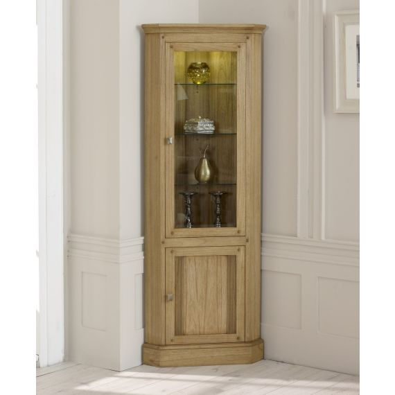 Lincoln Ash Corner Display Cabinet