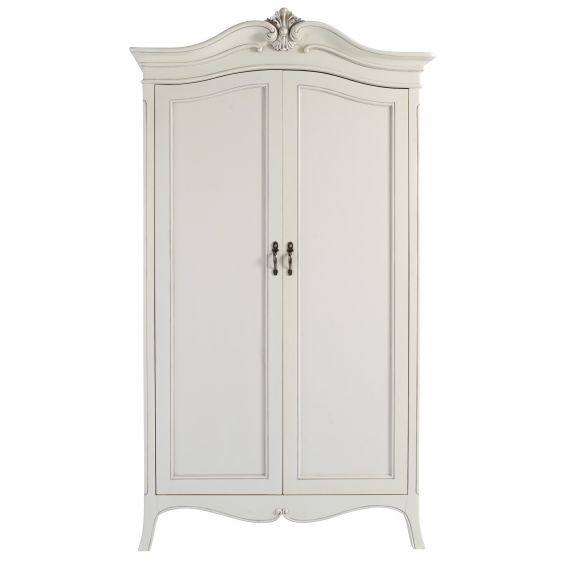 Louis French Ivory Painted 2 Door Double Wardrobe