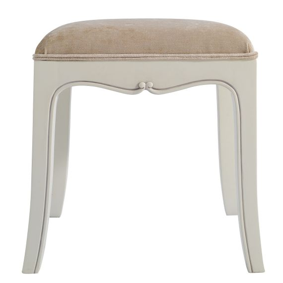 Louis French Ivory Painted Dressing Table Stool