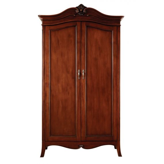 Louis French Mahogany 2 Door Double Wardrobe