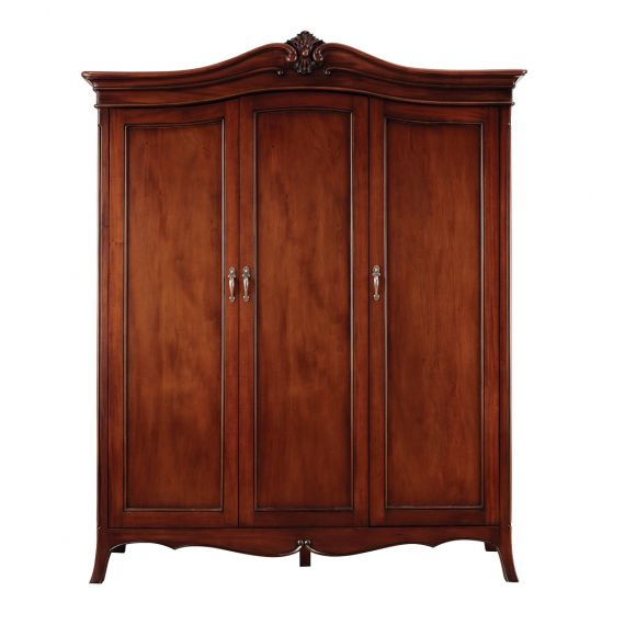 Louis French Mahogany 3 Door Triple Wardrobe