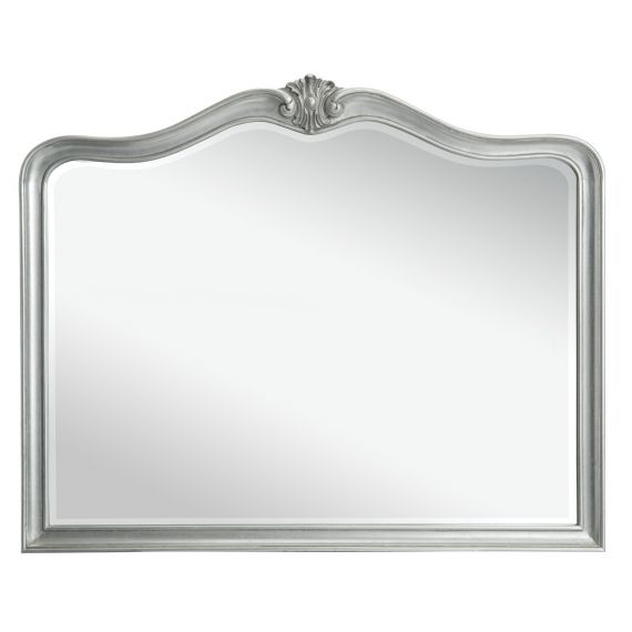 Louis French Silver Leaf Wall Mirror