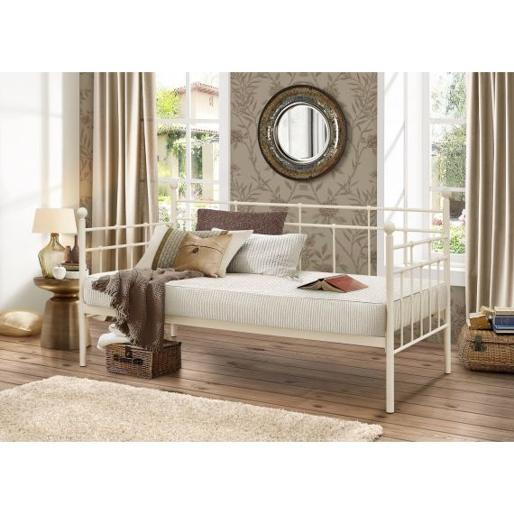 Lyon Metal Day Bed - Cream