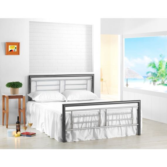 Montana Chrome & Nickel Metal Bed