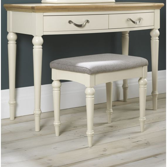 Montreux Antique White Painted Dressing Table Stool - Montreux Furniture