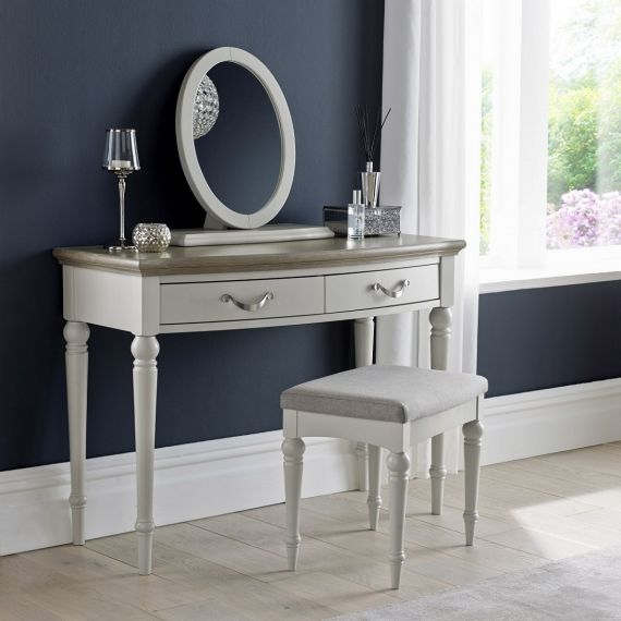 Montreux Grey Washed Oak & Soft Grey Painted Dressing Table - Montreux Furniture