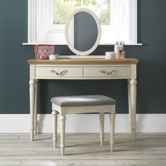Montreux Oak & Antique White Painted Dressing Table - Montreux Furniture