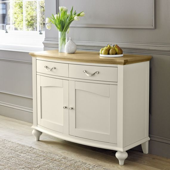 Montreux Oak & Antique White Painted Small Sideboard - Montreux Furniture