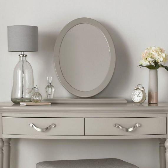 Montreux Urban Grey Painted Oval Dressing Table Mirror - Montreux Furniture