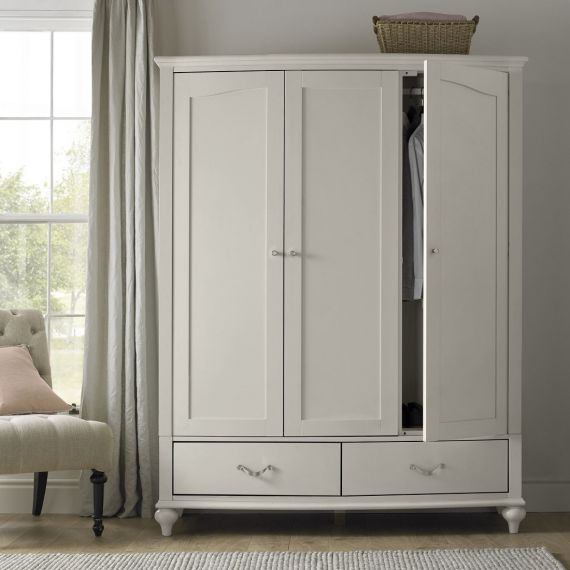 Montreux Urban Grey Painted Triple Wardrobe - Montreux Furniture
