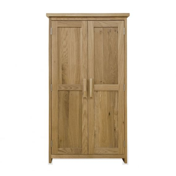 Opus Solid Oak CD DVD Storage Cupboard - Opus Oak Furniture