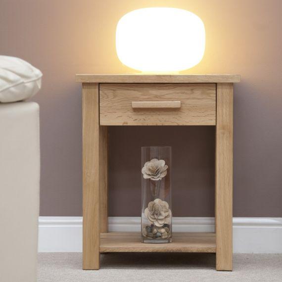Opus Solid Oak Lamp/Sofa Table